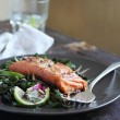 roasted salmon — Stock Photo