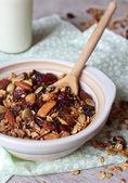 Organic homemade granola — Stock Photo