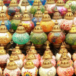 Colorful lanterns or lamps on the Turkish Grand Bazaar — Stock Photo #38376297