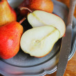 Stock Photo: Fresh garden pears in plate