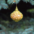 Christmas  decorated tree with ball — Stock Photo #48949125
