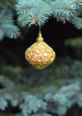 Christmas  decorated tree with ball — Stock Photo
