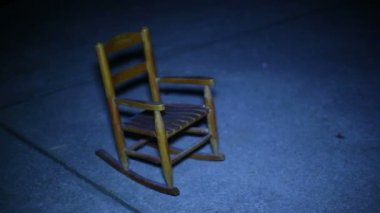 Ghost moving chair — Stock Video