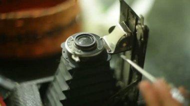 Camera repair — Stock Video