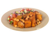 Sweet Potato with Chickpea Salad — Stock Photo
