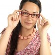 Young Woman Wearing Glasses — Stock Photo #12756790