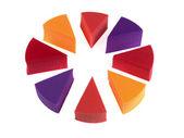 Esponjas cosméticas fundación — Foto de Stock