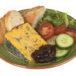 Blacksticks Blue Cheese with Salad — Stock Photo