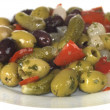 Stock Photo: Antipasti Olive and Pickle Mix