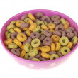 Bowl of Breakfast Cereals — Stock Photo
