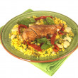 Spanish Style Chicken with Rice — Stock Photo