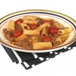 Beef and Chianti Rigatoni Pasta - Stock Photo