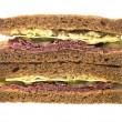 Stock Photo: Pastrami and Cheese Sandwich