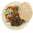 Lamb Kofta with Pitta Bread and Salad — Stock Photo