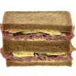 Pastrami Deli Sandwich — Stock Photo