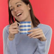Young Woman With Hot Drink — Stock Photo #13296159