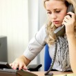 Young Business Woman Using Telephone — Stock Photo #13301297