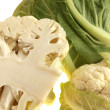 Raw Uncooked Cauliflower — Stock Photo