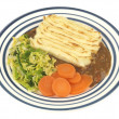 Shepherds Pie with Vegetables — Stock Photo