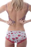 Sexy Young Woman Undoing Bra — Stock Photo