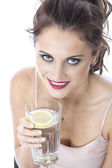 Attractive Young Woman Drinking a Glass of Water — Stock Photo