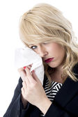 Upset Young Business Woman Crying — Stock Photo