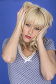 Upset Angry Young Woman — Stock Photo