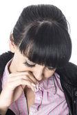 悲しい落ち込んで若い女性 — ストック写真