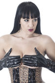 Beautiful Sexy Fetish Model Posing — Zdjęcie stockowe