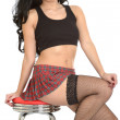 Young PIn Up Model TartMini Skirt — Stock Photo #39104627