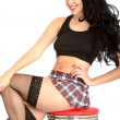Young PIn UP Model TartMini Skirt — Stock Photo #39105267