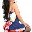 Stock Photo: Young Pin Up Model Sailors Costume