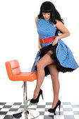 Young Vintage Pin-Up Model — Stock Photo