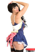 Young Pin Up Model Sailors Costume — Stock Photo