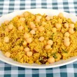 Couscous and Chick Pea Salad — Stock Photo
