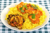Chicken Madras with Pilau Rice — Stock Photo