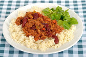 Chilli Con Carne with Rice — Stock Photo