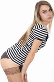 Sexy Young Pin Up Model — Stock Photo