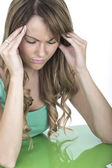 Attractive Young Woman With a Headache — Stock Photo
