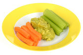 Vegetables with Guacamole — Foto de Stock