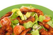 Barbekü karides salatası — Stok fotoğraf