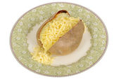 Baked Potato with Cheese — Stok fotoğraf