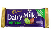 Dairy Milk Mint Crisp Chocolate Bar — Stock Photo
