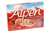 Alpen Strawberry and Yogurt Snack Bar — Stock Photo
