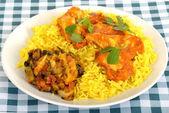Chicken Madras with Pilau Rice — Stock Photo