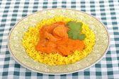 Chicken Tikka Masala with Pilau Rice — Stock Photo