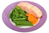 Salmon with Vegetables — Stock Photo
