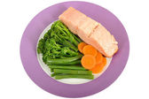 Losos se zeleninou — Stock fotografie
