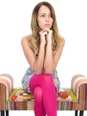 Thoughtful Pensive Young Woman — Stock Photo