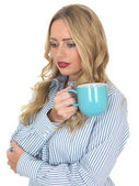 Young Woman Drinking Tea — Stock Photo